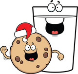 Cartoon Milk And Cookies