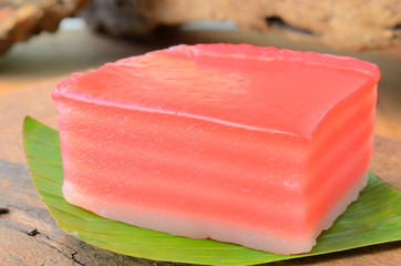 Khanom Chan is colorful layered dessert