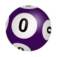 Loto, boule 0