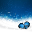 Christmas background with christmas balls, snowflakes and stars
