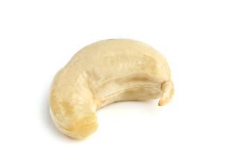 Isolated nut of cashew.