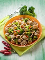 integral orecchiette with broccoli