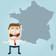 business mann frankreich französisch