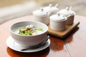 Eastern breakfast soft boiled rice