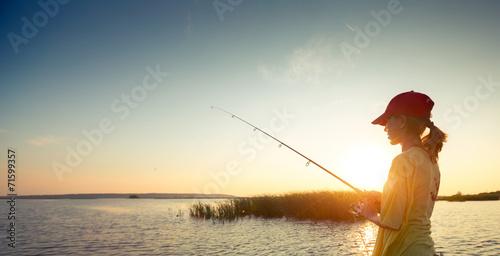 Deurstickers Vissen Fishing