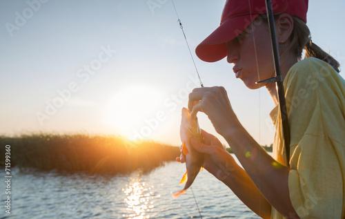 Fotobehang Vissen Fishing