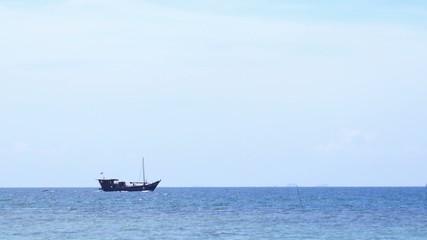 Sailing Boat on the Sea.