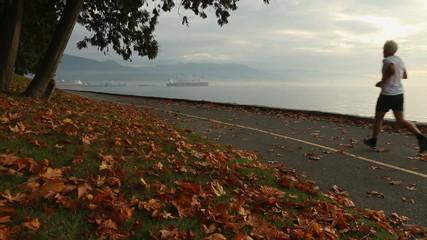 Autumn Jog, Stanley Park Seawall, Vancouver