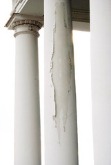 Old columns, white background.