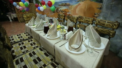 Table Setting on Children's Birthday