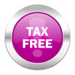 tax free violet circle chrome web icon isolated