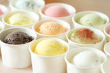 Fototapety sweet and colorful ice cream scoops
