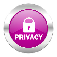 privacy violet circle chrome web icon isolated