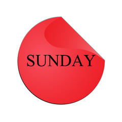 The Sunday colorful stickers
