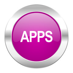 apps violet circle chrome web icon isolated