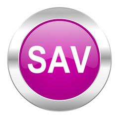 sav violet circle chrome web icon isolated