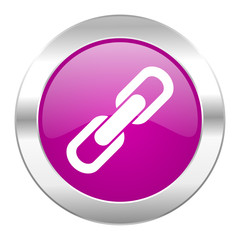 link violet circle chrome web icon isolated
