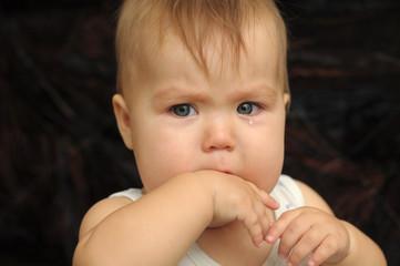 Baby in tears