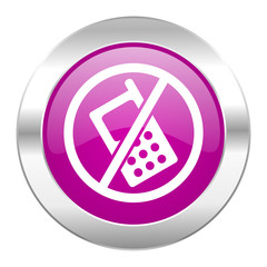 no phone violet circle chrome web icon isolated