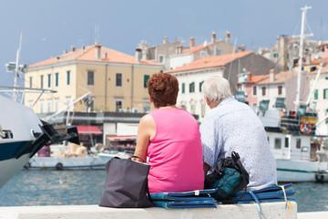 elderly people on vacation