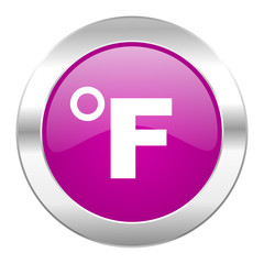 fahrenheit violet circle chrome web icon isolated