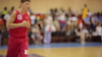 Basketball Players Workout ( defocused )