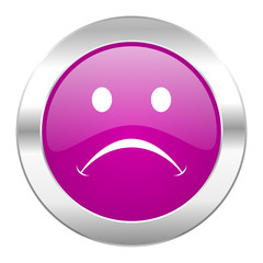 cry violet circle chrome web icon isolated