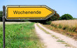 canvas print picture - Strassenschid 21 - Wochenende