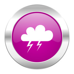 storm violet circle chrome web icon isolated