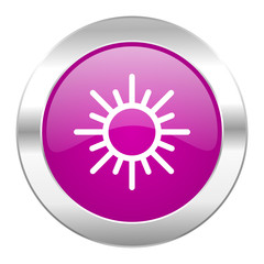 sun violet circle chrome web icon isolated
