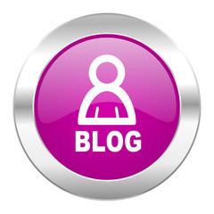 blog violet circle chrome web icon isolated