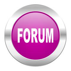 forum violet circle chrome web icon isolated