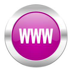 www violet circle chrome web icon isolated