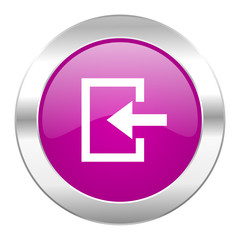 enter violet circle chrome web icon isolated