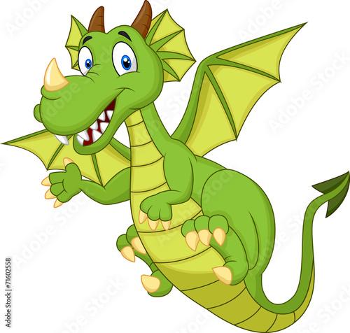 Cute cartoon dragon - 71602558