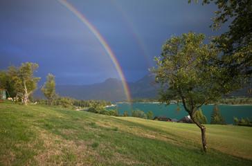 Regenbogen am Wolfgangsee