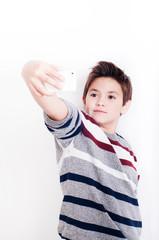 Boy take selfie