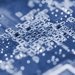 Macro of an electronic circuit board