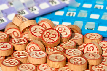 Tombola game (bingo numbers)
