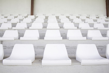 Bright white seats
