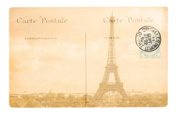 old Paris postcard