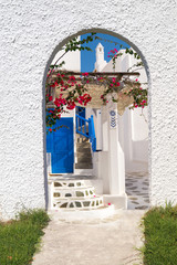 Traditional Greek architecture on Mykonos island