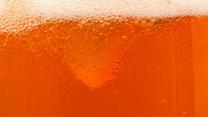 bubbles in the beer glass, locked down