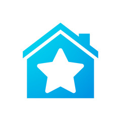 House icon with a star
