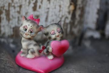 clay figurine toy kitten