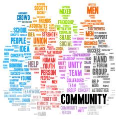 Community word cloud shape