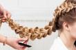 canvas print picture - braid girl