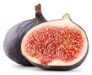 Ripe sweet sliced ​​figs