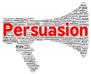 Persuasion word cloud shape