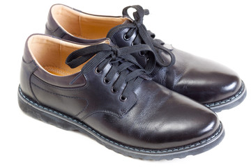 Pair of black men's shoes